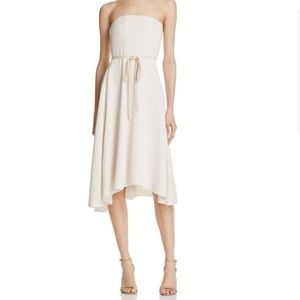 Theory Shell Trelle Strapless Dress